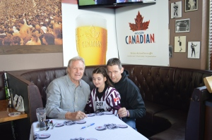Former Leaf Great, Darryl Sittler with Elle and Kevin Morton.