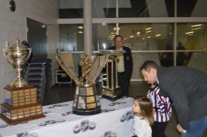 NHL Trophies - Lady Byng, Rocket Richard & The President's Trophy.